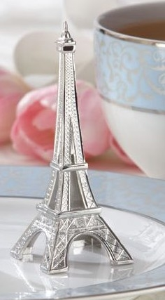 100 Silver Evening In Paris Eiffel Tower Place Card Holder Wedding Party Favors