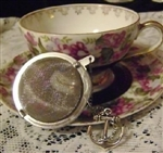 "2"" Mesh Stainless Steel Ball Tea Strainer Cute Anchor Charm"