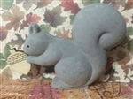 The Cutest Little Cement Squirrel with Wood Acorn Fall