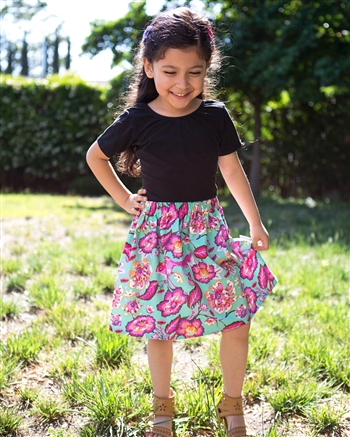 Floral Squirrel Skirt