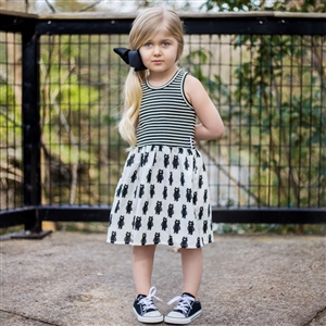 Striped Teddy Bear dress