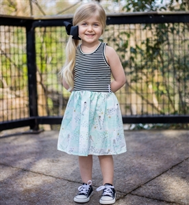 Striped Watercolor Mermaid dress