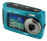 BELL+HOWELL® 2VIEW 18.0MP HD Dual Screen Digital & Video Camera (Waterproof to 10 ft.) (Blue)