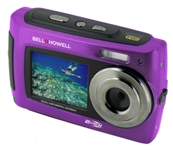 BELL+HOWELL® 2VIEW 18.0MP HD Dual Screen Digital & Video Camera (Waterproof to 10 ft.) (Purple)