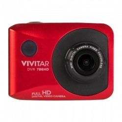 DVR 786HD Waterproof ActionCam- includes bike/AVT mount (Red)