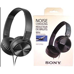 Sony  MDR-ZX110NC Noise Canceling Headphones, Black