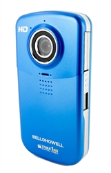BELL+HOWELL® Take-1 720 High Definition Flip Camcorder & 5.0 Digital Camera (Blue)