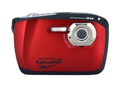 BELL+HOWELL® Splash2 16.0MP / HD Underwater Digital & Video Camera (Waterproof to 10 ft.)-RED