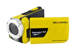 BELL+HOWELL® SplashHD Waterproof 1080p HD Camcorder & 16.0MP Digital Camera (Waterproof to 10 ft.)-YELLOW