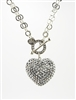 Swarovski heart toggle necklace