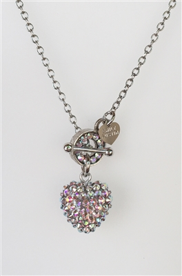 designer pavé crystal toggle heart