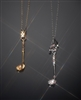 Sterling and Vermeil crystal golf club pendants