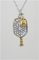 two sided pickleball designer necklace