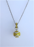 Swarovski crystal pavé tennis necklace pendants