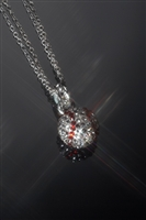 13mm Crystal and Sterling Baseball Necklace