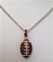 pavé crystal designer crystal football pendant