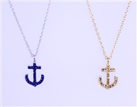 reversible designer anchor necklace
