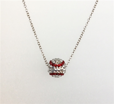Hand set Swarovski crystal pavé ball necklace