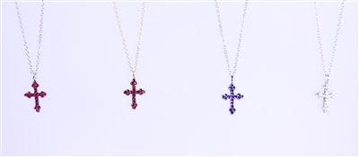 crystal cross reversible necklaces