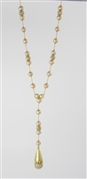 freshwater pearl and pavé crystal necklace