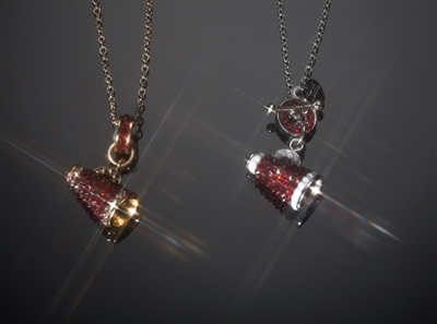 Swarovski crystal megaphone necklaces