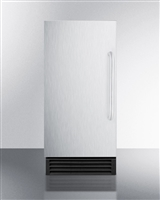 "Summit BIM44G 15"" Ice Maker Built in Freestanding Frost Free Stainless Steel"