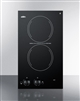 "Summit CR2110 12"" Smoothtop Electric Cooktop 2 Burners Black 115 Volt"