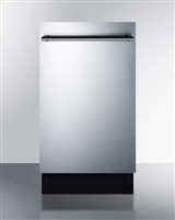 "Summit DW18SS2 18"" Dishwasher Built In Stainless Steel Energy Star"