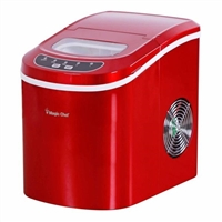Magic Chef MCIM22R Tabletop Countertop Ice Maker Portable Red