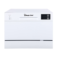 Magic Chef MCSCD6W5 6 Place Settings Counter-top Dishwasher