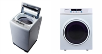 Magic Chef 2.1Cu Ft Compact Portable Washing Machine 3.5 Cu ft Dryer 2pc Package