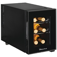 Magic Chef MCWC6B 6-Bottle Wine Cooler Countertop