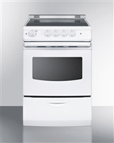 "Summit REX242WRT 24"" Slide In Electric Range"