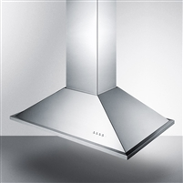 "Summit SEIH1536CV3  36"" Island Mount Range Hood Stainless Steel Convertible"