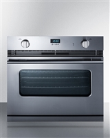 Summit SGWO30SS 3.0 cu.ft. 30in Single Gas Wall Oven Convection Stainless Steel