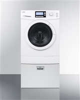 Summit 15lbs Combo Washer Dryer Ventless 120 Volt With Pedestal Drawer
