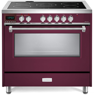 "Verona Designer Series VDFSEE365BU 36"" Electric Range Oven Convection Burgundy"