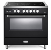 "Verona Designer Series VDFSEE365E 36"" Electric Range Oven Convection Matte Black"
