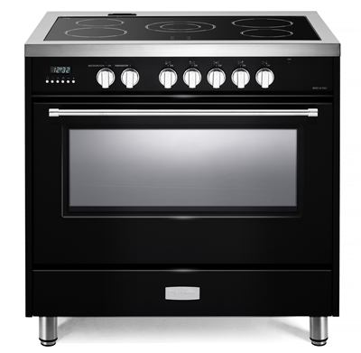 "Verona Designer Series VDFSEE365GB 36"" Electric Range Oven Convection Gloss Black"