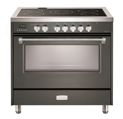 "Verona Designer Series VDFSEE365SG 36"" Electric Range Oven Convection Slate Gray"