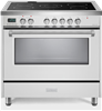 "Verona Designer Series VDFSEE365W 36"" Electric Range Oven Convection White"