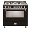 "Verona Designer Series VDFSGG365GB 36"" All Gas Range Oven Gloss Black"