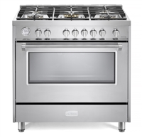 "Verona Designer Series VDFSGG365SS 36"" All Gas Range Oven Stainless Steel"