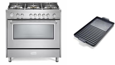 "Verona Designer Series VDFSGG365SS 36"" All Gas Range Oven W/Griddle Stainless Steel"