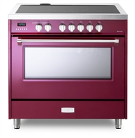 Designer Series VDFSIE365BU 36 Inch 5 cu.ft Induction Range Oven Freestanding, 5 Elements Smoothtop Cooktop, Convection Burgundy