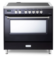 Designer Series VDFSIE365GB 36 Inch 5 cu.ft Induction Range Oven Freestanding, 5 Elements Smoothtop Cooktop, Convection Gloss Black