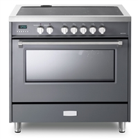 Designer Series VDFSIE365SG 36 Inch 5 cu.ft Induction Range Oven Freestanding, 5 Elements Smoothtop Cooktop, Convection Slate Gray