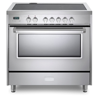Designer Series VDFSIE365SS 36 Inch 5 cu.ft Induction Range Oven Freestanding, 5 Elements Smoothtop Cooktop, Convection Stainless Steel
