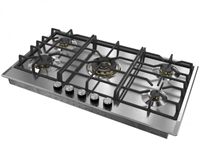 "Verona Designer Series VDGCT536FSS 36"" Gas Cooktop 5 Sealed Burners Stainless Steel"