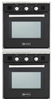 "Verona VEBIG24NE 24"" 2 Single Gas Wall Oven Built in Stackable In Black"
